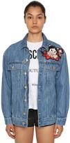 Moschino Embroidered Logo Cotton Denim Jacket