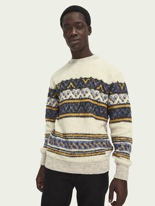 Scotch & Soda Wool-blend boucle pullover   Men
