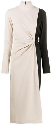 16Arlington Bi-Colour Twist Waist Midi Dress