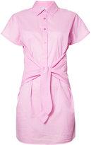 Moschino tie fastening shirt dress - women - Cotton - S