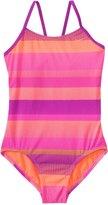 Nike Swimwear Girls' Optic Shift VBack Tank One Piece Swimsuit (7yrs-14yrs) - 8140048