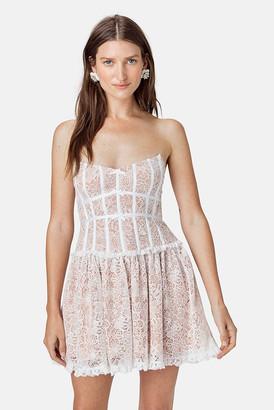 For Love & Lemons Ivory Jelena Strapless Dress