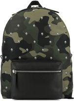 Alexander McQueen Military Print Fabric Backpack