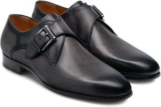 Magnanni Frades Plain Toe Monk Strap Shoe
