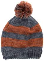 Muk Luks Women's Striped Pom Pom Beanie