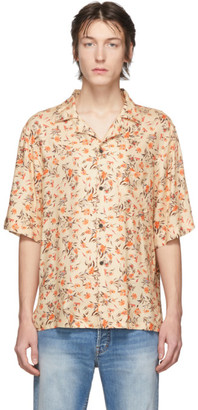 Acne Studios Orange Flower Print Shirt