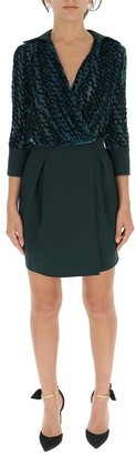 Elisabetta Franchi Monogram Draped Dress