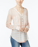William Rast Selina Tie-Dyed Blouse