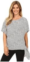 MICHAEL Michael Kors Graphic Scale Tie Top