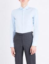 BOSS Slim-fit single-cuff cotton shirt