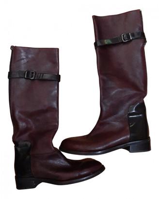 Maliparmi Burgundy Leather Boots