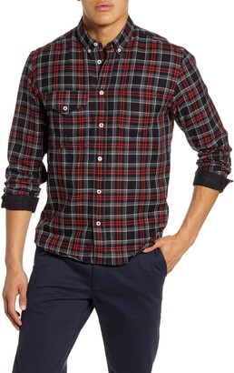 Billy Reid Regular Fit Plaid Cotton & Cashmere Button Down Shirt