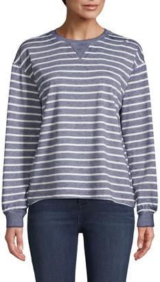 C&C California Striped Cotton-Blend Sweatshirt