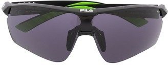 Fila geometric-frame sports sunglasses