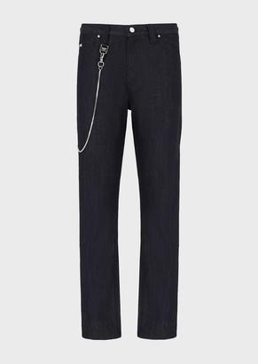 Emporio Armani J38 Loose-Fit, Freeze-Denim Jeans