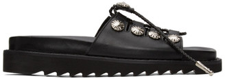 Toga Pulla Black Buckle Sandals