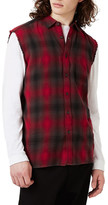 Topman Sleeveless Plaid Shirt