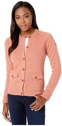 Fjallraven Greenland Re-Wool Cardigan (Terracotta Pink) Women's Clothing
