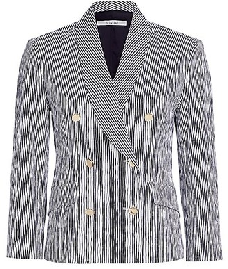 Derek Lam 10 Crosby Myla Double-Breasted Striped Blazer