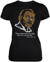 Old Glory Martin Luther King Jr Violence Quote Juniors Soft T Shirt LG