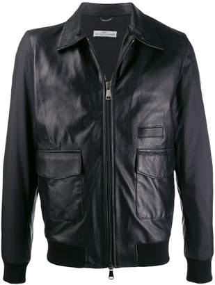 Daniele Alessandrini zipped leather jacket