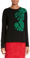 Valentino Women's Palm Leaf Cashmere Sweater