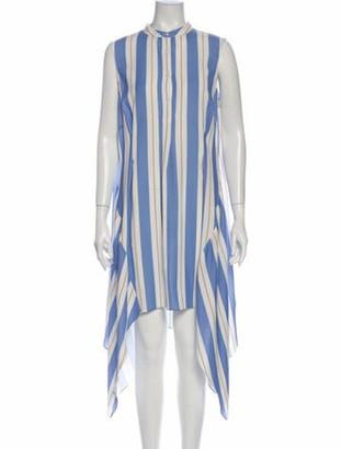 Tome Striped Long Dress Blue