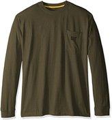 Caterpillar Big and Tall Men's Trademark Pocket Long Sleeve T-shirt