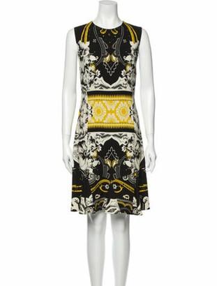 Etro Printed Knee-Length Dress Gold