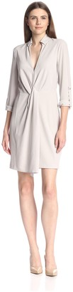 Halston Women's Wrap Front Dress