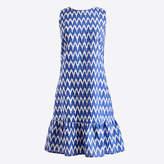 J.Crew Factory Printed sleeveless bow-back dress