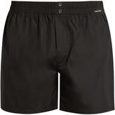 Dolce & Gabbana Elasticated-waist cotton-poplin boxer shorts
