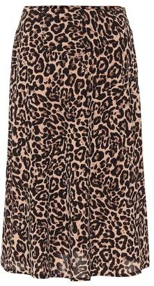 Baum und Pferdgarten Senga leopard-print midi skirt