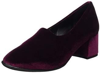 NR Rapisardi Women's F900 Closed Toe Heels, Red (Wine Velvet/Wine Velvet 05VL-E/W)