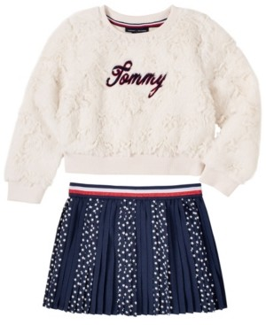 Tommy Hilfiger Toddler Girls 2 Piece Top and Skirt Set