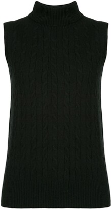 Erdem Roll Neck Cable Knit Pullover