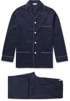 Derek Rose - Royal 40 Polka-dot Cotton-jacquard Pyjama Set