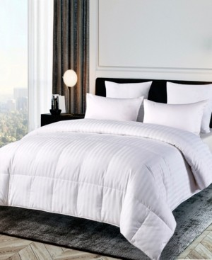 Blue Ridge 500 Thread Count Damask Stripe Duraloft Down Alternative Full/Queen Comforter
