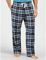John Lewis Burley Check Brushed Cotton Lounge Pants, Navy