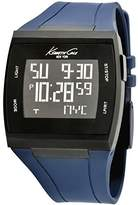 Kenneth Cole Mens Touch Screen Watch KC1669 with Black Dial and Blue Silicone Strap