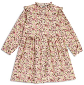 Bonton Floral Print Dress (4-12 Years)