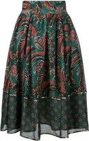 Muller of Yoshio Kubo Muller Of Yoshiokubo - leaf print full skirt - women - Linen/Flax/Rayon - 36