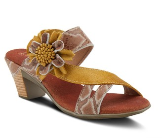 Spring Step L'Artiste By Leather Slide Sandals- Cassana