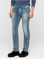 Calvin Klein Mens Straight Leg Vintage Light Blue Jeans