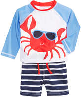 First Impressions 2-Pc. Crab Rash Guard & Swim Trunks Set, Baby Boys, Created for Macy's