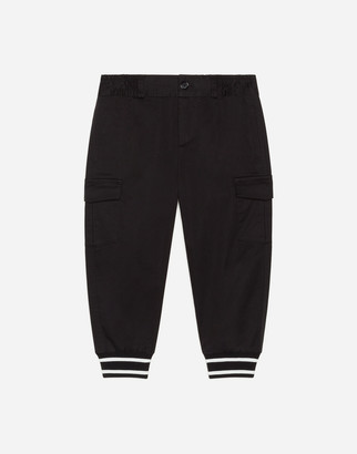 Dolce & Gabbana Cargo Pants In Stretch Gabardine