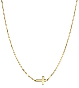 Bloomingdale's 14K Yellow Gold Small Cross Necklace, 18 - 100% Exclusive