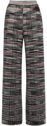 Missoni Checked Crochet-knit Wool Wide-leg Pants