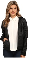 Sam Edelman Lydia Faux Leather Hoodie