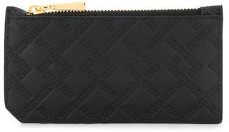 Versace Greca embossed card holder